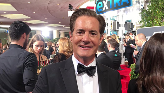 Kyle MacLachlan Golden Globes 2018 red carpet exclusive interview