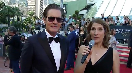 Kyle MacLachlan interview on the Red Carpet Monte Carlo Tv Festival 2017