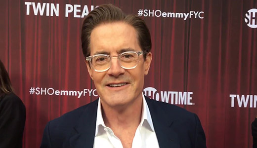 Kyle MacLachlan spills secrets of 'Twin Peaks The Return' at Emmy FYC red carpet