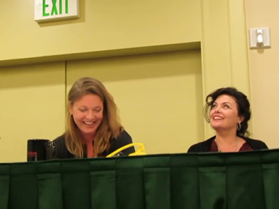Twin Peaks panel with Sheryl Lee & Sherilyn Fenn at Seattle Crypticon - 5 23 15