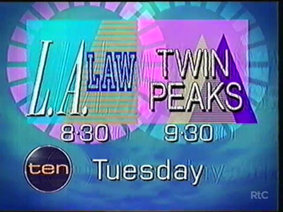Network Ten - LA Law and Twin Peaks Promo and Thats Entertainment Ident 1991